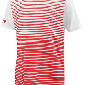 TEAM STRIPED CREW – Wilson Red / White – Herren-Shirt