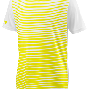 TEAM STRIPED CREW – Safety Yellow / White – Herren-Shirt