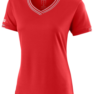 TEAM V-NECK – Wilson Red – Damen-Shirt